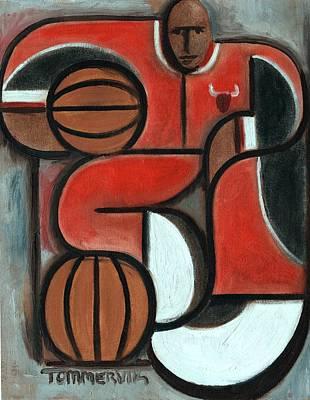 Art Deco Michael Jordan Art Print Poster