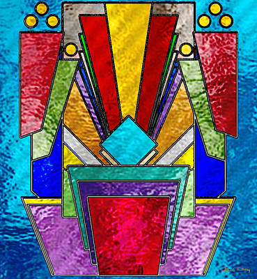 Art Deco - Stained Glass 6 Poster by Chuck Staley