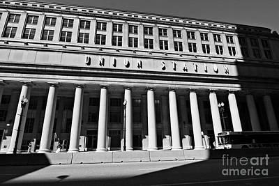 Art Deco Union Station Chicago Illinois Film Noir Style Photo Poster by Linda Matlow