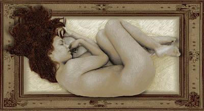 Art For The Sake Of Art Woman Framed 3 Poster by Tony Rubino