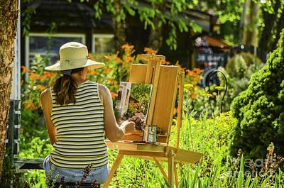 Art In The Garden Poster