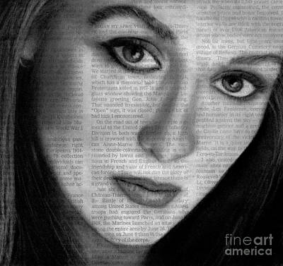 Art In The News 34- Meryl Streep Poster by Michael Cross