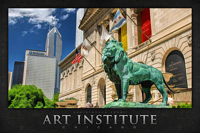 Art Institute In Chicago Poster Poster by Christopher Arndt