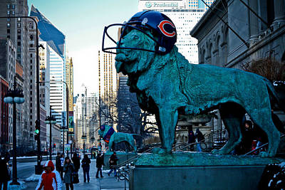 Art Institute Of Chicago Lions Poster by Anthony Doudt