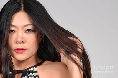 Sleek Asian Model Poster by Heather Kirk