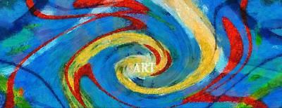 Art Swirl Poster by Dan Sproul