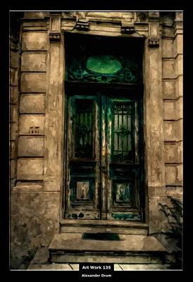 Art Work 135 Old Door Poster by Alexander Drum
