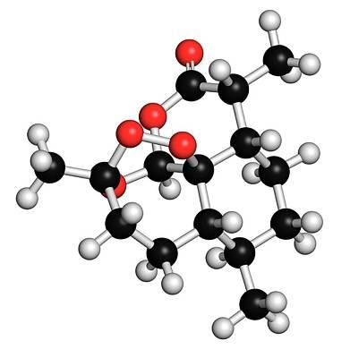 Artemisinin Malaria Drug Molecule Poster by Molekuul