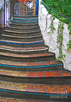 Artful Stair Steps Poster by Ann Horn