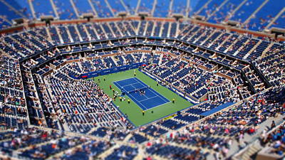 Arthur Ashe Stadium From High Angle Poster