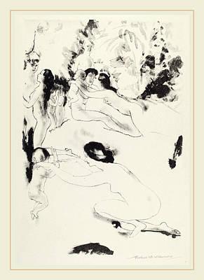 Arthur B. Davies, Orchard Of Bounties, American Poster