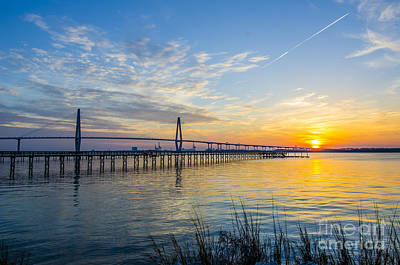 Poster featuring the photograph Calm Waters Over Charleston Sc by Dale Powell