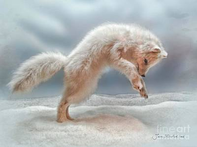 Artic White Wolf Poster by Joan  Minchak