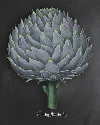 Artichoke Kitchen Art Print Poster