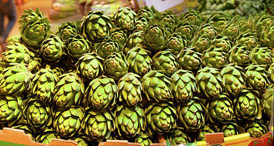 Artichokes At Farm Stand, Route 34 Poster