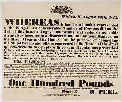 Article Detailing Ship-workers Protest Poster by British Library
