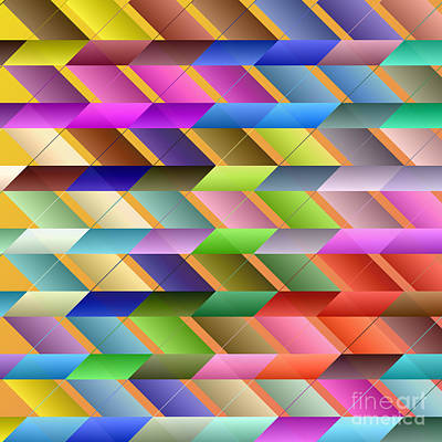 Articulated Triangles Poster by Gaspar Avila