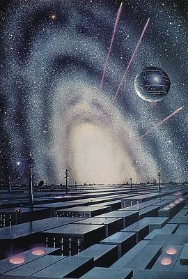 Artificial Planets, Artwork Poster by Science Photo Library