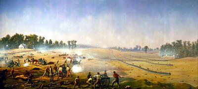 Artillery Hell At Antietam Poster