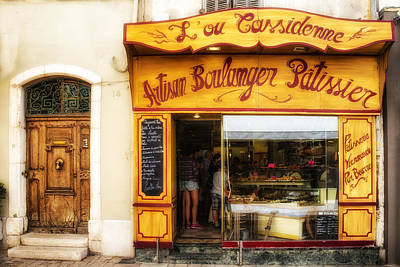 Artisan Boulanger In Cassis Poster by Georgia Fowler