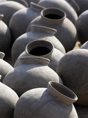 Artisan Making Clay Pot Poster by David H. Wells