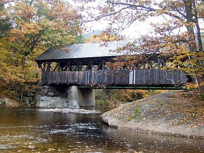 Artist Covered Bridge Poster by Catherine Gagne