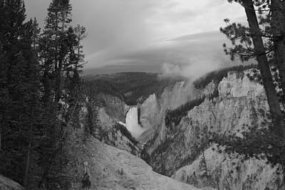 Artist Point Black And White Poster by Robert  Moss