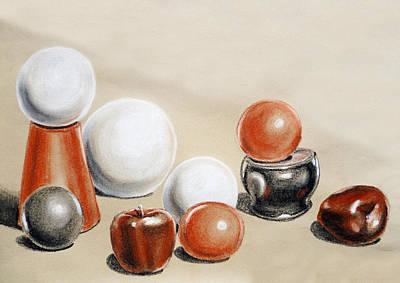 Artistic Playground Apples And Balls Show Poster by Irina Sztukowski