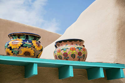 Artistic Pottery Decor, Taos, New Poster