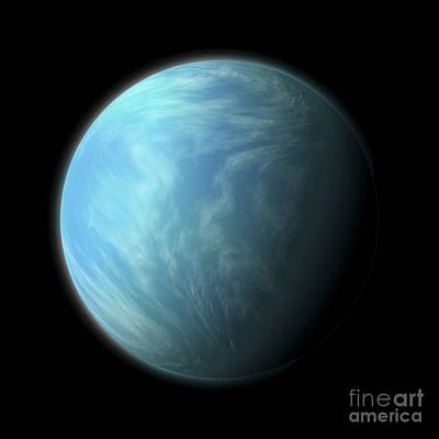 Artists Depiction Of Kepler 22b Poster