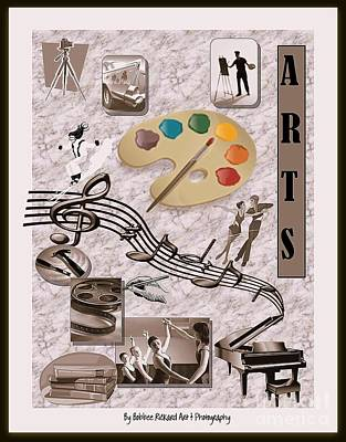 Arts Collage Poster by Bobbee Rickard