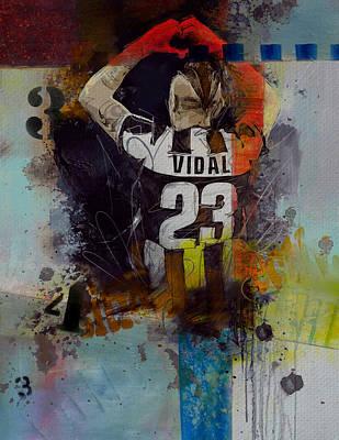 Arturo Vidal - D Poster by Corporate Art Task Force