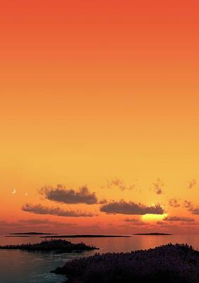 Artwork Of Planet Kepler 62e Poster