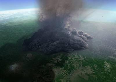 Artwork Of Ultra-plinian Eruption Poster by Mark Garlick