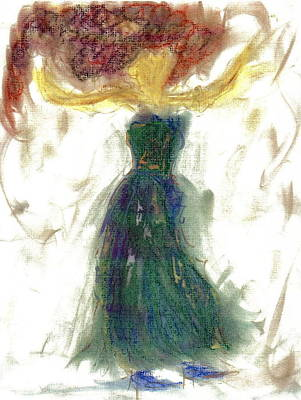 Poster featuring the painting as if Dancing in Heaven by Lesley Fletcher