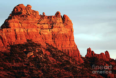 As The Sun Sets In Sedona Poster