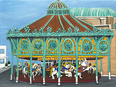 Asbury Park Carousel IIi Poster by Norma Tolliver