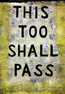 Asbury This Too Shall Pass Poster by John Rizzuto