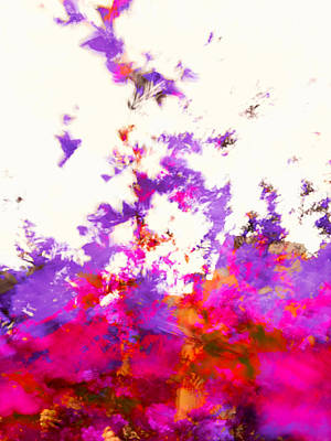 Poster featuring the photograph Ascending Floral Abstract by Paul Cutright