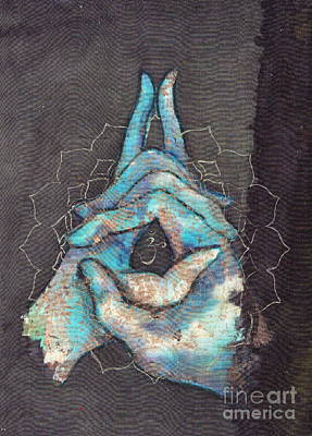 Ascension - Crown 'blue Hand' Chakra Mudra Poster by Silk Alchemy