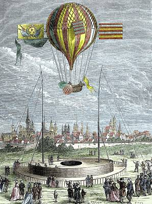 Ascent Of A Navigable Balloon Poster by Sheila Terry