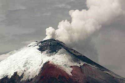 Ash Plume Rising From Cotopaxi Volcano Poster by Dr Morley Read