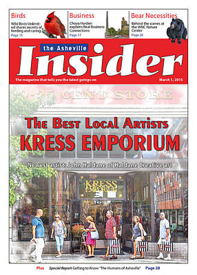 Asheville Insider Magazine Poster by John Haldane