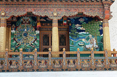 Asia, Bhutan Paintings And Detailed Poster by Jaynes Gallery