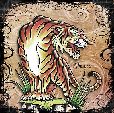 Asian Tiger Poster by Maria Arango