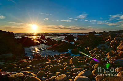 Asilomar Sunset - Monterey Bay Poster