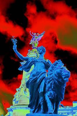 Aslan In Blue Poster by Richard Henne
