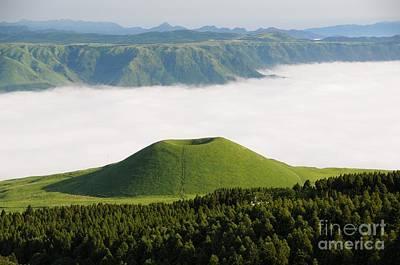 Poster featuring the photograph Aso Komezuka Sea Of Clouds Cloud Kumamoto Japan by Paul Fearn