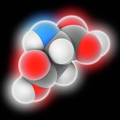 Aspartic Acid Molecule Poster by Laguna Design