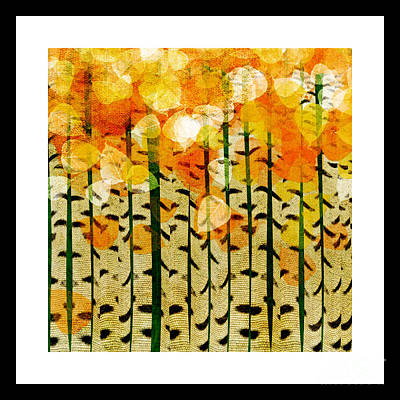Aspen Colorado Abstract Square 4 Poster